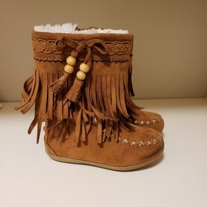 Rampage Girls Toddler Fringe Boots